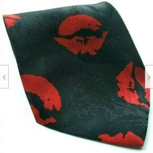 Red Hot Lip Print Valentine Love Kissing Tie